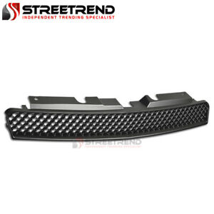 For 06 16 Chevy Impala Monte Carlo Matte Blk Mesh Front Hood Upper Grill Grille