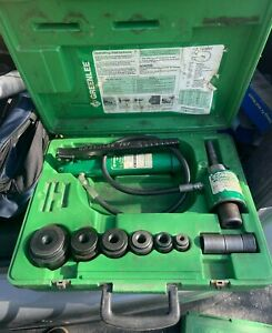 Greenlee 7306sb Hydraulic Knockout Knock Out Punch Driver Set 1 2 2