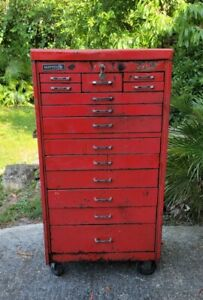 Matco Tool Box Rolling Chest Cabinet Locking 14 Drawers