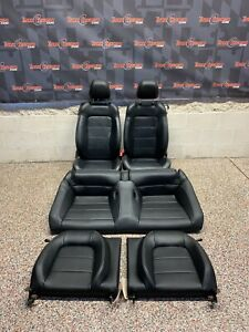 New Listing2015 Ford Mustang Gt Oem Black Leather Front Rear Seats Coupe