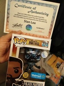 Funko Pop Black Panther Signed Stan Lee With Coa $495.00