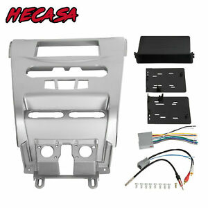 Silver Car Radio Stereo Dash Kit Panel W Wire Harness For Ford 08 11 Focus