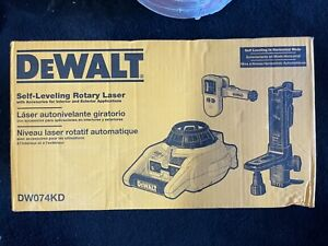 Dewalt Dw074kd 150ft Red Self Leveling Rotary Laser With Detector Clamp Mount