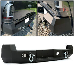 Hecasa Black Rear Bumper For 05 15 Toyota Tacoma W License Plate Led Lights