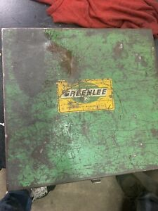 Greenlee Hydraulic Knockout Punch Set 2 1 2 3 3 1 2 4 Nice Set 7304