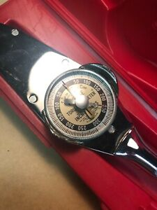 Snap On Torqometer Te25fua Torque Wrench In Lb Free Priority Shipping