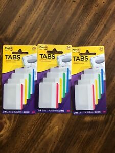 Post it Tabs 24 Pack Lot Of 3 New In Package