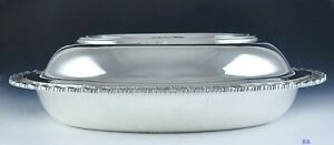 Heavy Tiffany Co Sterling Silvers Covered Vegetable Serving Dish Or 2 Dishes