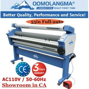 55 Full auto Wide Format Cold Laminator Machine Roll To Roll Top Heat Assisted