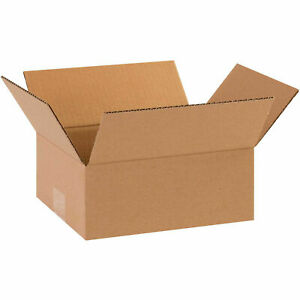 8 X 6 X 2 Flat Corrugated Boxes 65 Lbs Capacity 200 ect 32 Lot Of 25