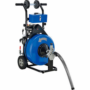 Drain Cleaner For 4 9 Pipe 200 Rpm 100 Cable