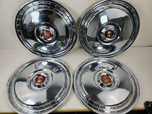 1955 1956 Ford Fairlane Thunderbird Hubcaps Wheel Cover 15 Set Of 4 B5a 1130 C