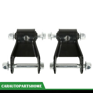 Leaf Spring Rearward Shackle Bracket Kit Pair Set For 99 13 Chevy Silverado Gmc Fits More Than One Vehicle