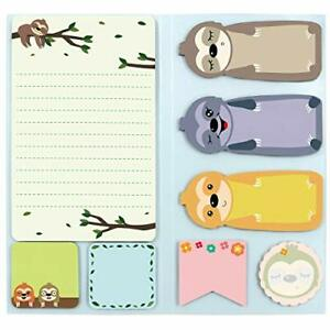 Sloth Sticky Notes Set Notepads Gift For Kids Teens Office School 240 Sheets