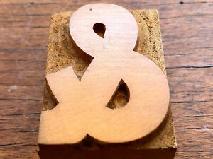 Antique Letterpress Wood Type Printers Block Beautiful And Ampersand