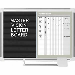 Mastervision In out Magnetic Dry Erase letter Board Steel vinyl Surface 24 w X