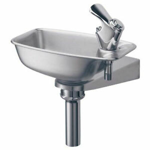 Wall Mounted Drinking Fountain Bracket Style Stainless Steel