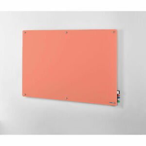 72 w X 48 h Magnetic Glass Dry Erase Board Coral