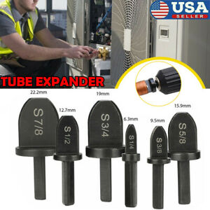 6x Swaging Tool Drill Bit Set Air Conditioner Copper Pipe Flaring Tube Expander