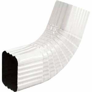 Spectra Metals 2 X 3 In Aluminum White Side Downspout Elbow 3belrtw