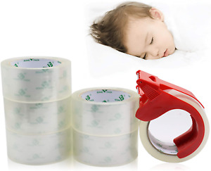 No Noise Quiet Clear Packing Tape Heavy Duty Packaging Tape Refill Rolls For S
