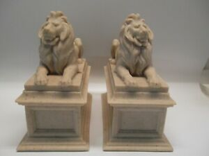 Marble Lions Bookends The Ny Public Library After Edward C Potter Signed Mma
