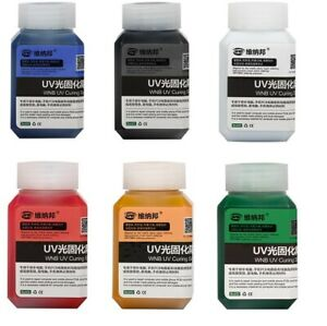 Uv Curable Solder Repairing Ink Mask Red blue green yellow black white 100g Tub