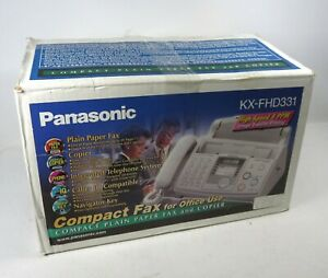 New Panasonic Kx fhd331 Compact Plain Paper Fax Copier And Telephone System