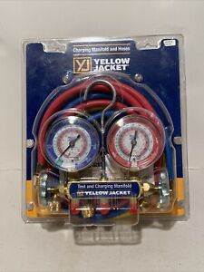 Yellow Jacket 42004 Series 41 Manifold With 3 1 8 Gauge Psi R 22 404a 410a