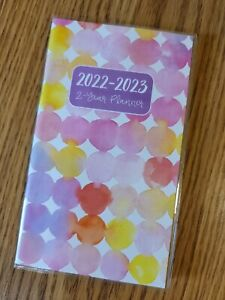 2022 2023 Dots 2 year Pocket Monthly Planner Calendar 6 5 X 3 75