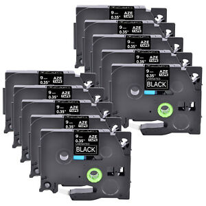 10pk Compatible With Brother P touch Tz 325 White On Black 0 35 Label Tape 9mm