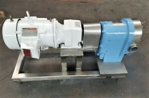 Waukesha Stainless Steel Positive Displacement Pump 5 Hp