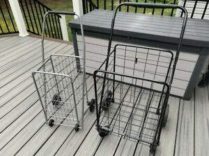 Shopping Carts Two Carts With Wheels In Great Condition local Pick Up Only