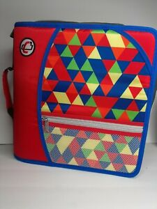 Case It Multicolor 3 The Mighty Zip Tab Zipper Binder Dividers No Sholdr Strp