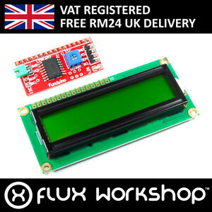 16x2 Green Lcd With Funduino I2c Interface Mb 063 1602 Hd44780 Flux Workshop