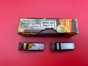 Brown And Sharpe 599 377 Key Seat Clamps one Pair With Original Box In Stock