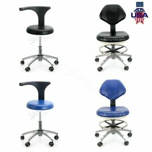 Dental Adjustable Pu Leather Medical Stool Doctor Assistant Stool Mobile Chair A