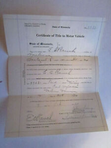 1920 Model T Ford Touring Barn Find Historical Documents