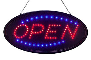 Large 23 Open Sign Led For Store
