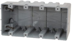 Madison Electric Products Msb4g Four Gang Device Box With Depth Adjustable Heav