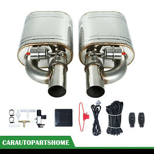 2pcs 3 76mm Exhaust Muffler Valve Cutout With One Wireless Remote Controller