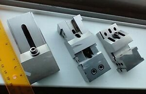 Lot Of 3 Shop Made Precision Grinding Vises Machinist Tool U s a