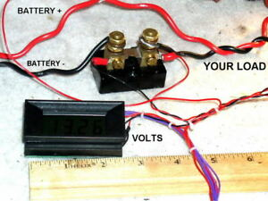 New 50 Amp Lcd Dc Volt amp Meter Voltmeter Ammeter Rv Combo Switch Between Both