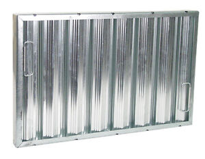 Exhaust Hood Grease Filter Baffle 16x25 Galvanize 31165