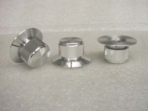 High Quality Solid Aluminum Control Knobs 1 4 Hole 2 Pcs