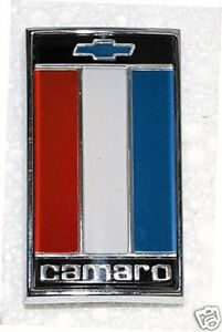 1975 1977 Camaro Trunk Emblem 75 76 77 Red White Blue