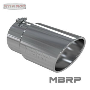 Mbrp 12 Stainless Steel Exhaust Tip 5 Inlet 6 Outlet Angled Rolled End T5075