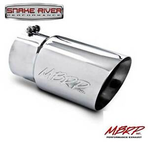 Mbrp 12 Stainless Steel Exhaust Tip 5 Inlet 6 Outlet Dual Wall Angled T5074