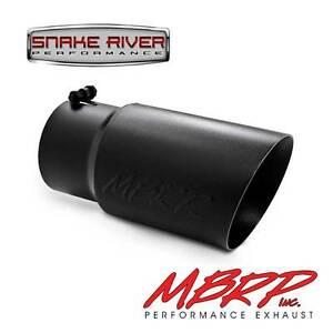 Mbrp 12 Black Diesel Exhaust Tip 5 Inlet 6 Outlet Dual Wall Angled T5074blk