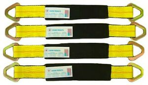 4 31 Axle Straps Tie Down Race Car Hauler 4x4 Off Road Tow Truck Rollback
